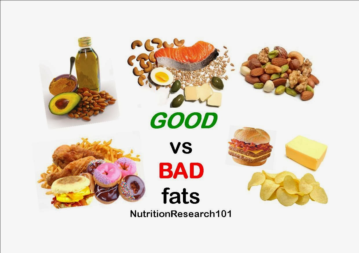 good fats vs bad fats Focus on replacing foods high in saturated fat with foods that include monounsaturated fats and polyunsaturated fats but a word of caution — don't go overboard even on healthy fats all fats, including the healthy ones, are high in calories.